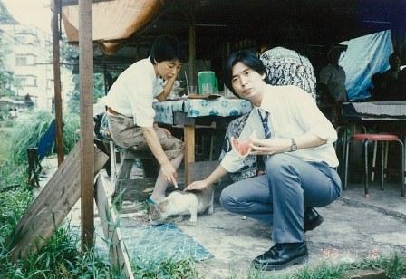 マレーシアの屋台と猫