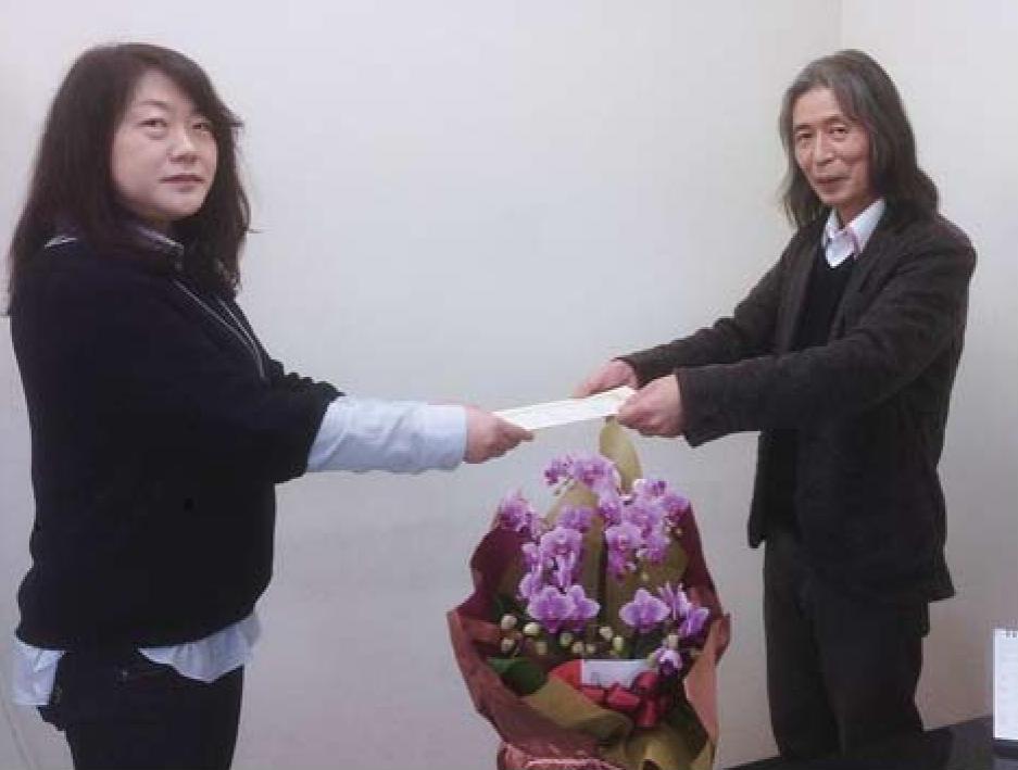 大迫さんと主任講師牧野